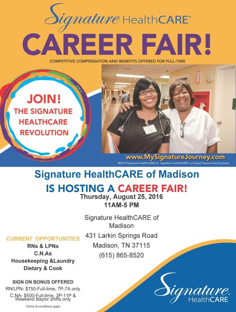Madison Career Fair Flyer August 2016